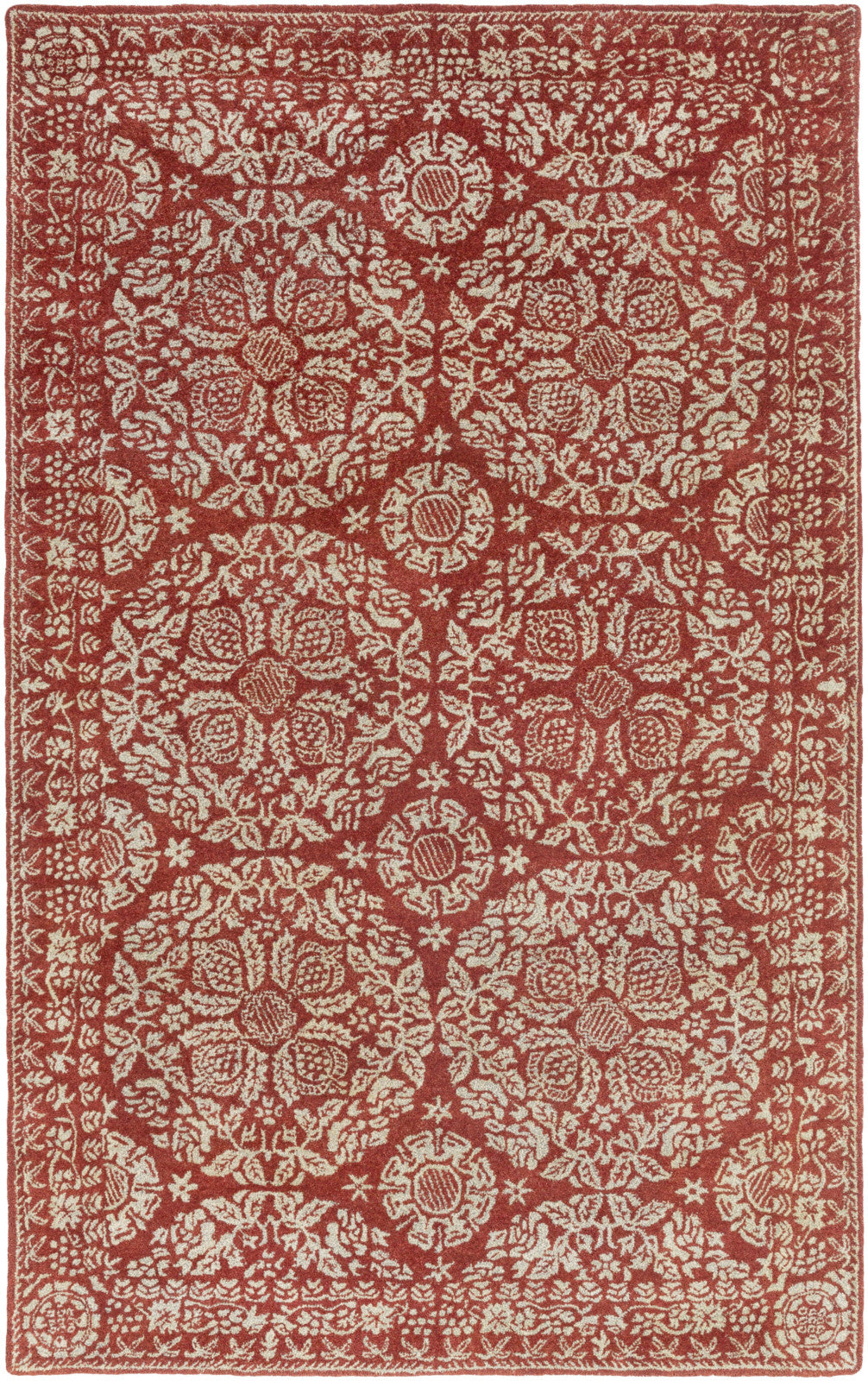 Surya SMI-2154 Red Area Rug by Smithsonian