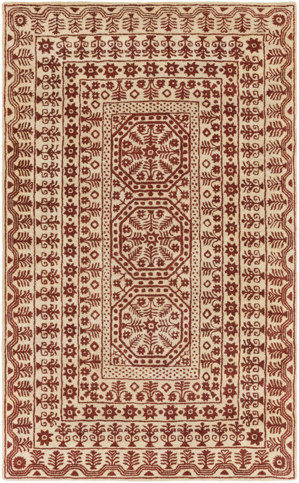 Surya SMI-2156 Red Area Rug by Smithsonian
