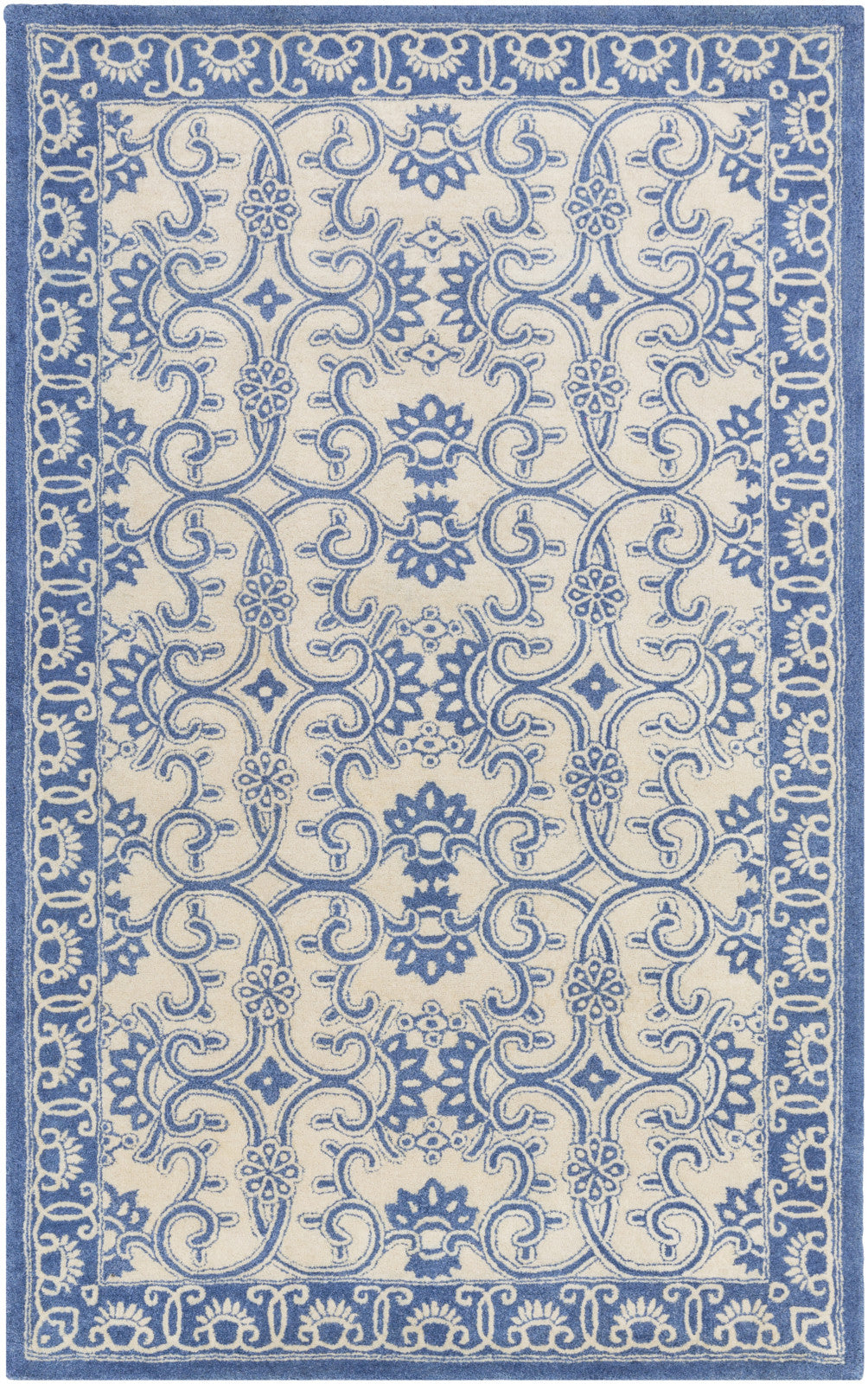 Surya SMI-2157 Blue Area Rug by Smithsonian