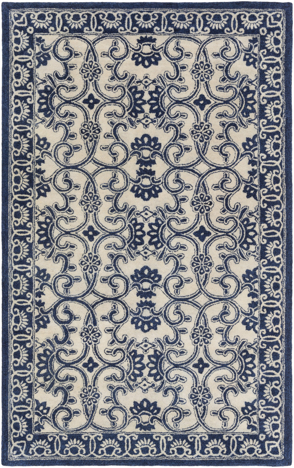 Surya SMI-2158 Blue Area Rug by Smithsonian