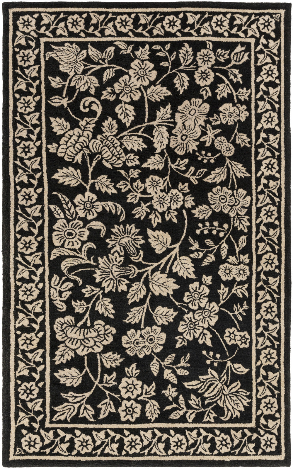 Surya SMI-2160 Black Area Rug by Smithsonian