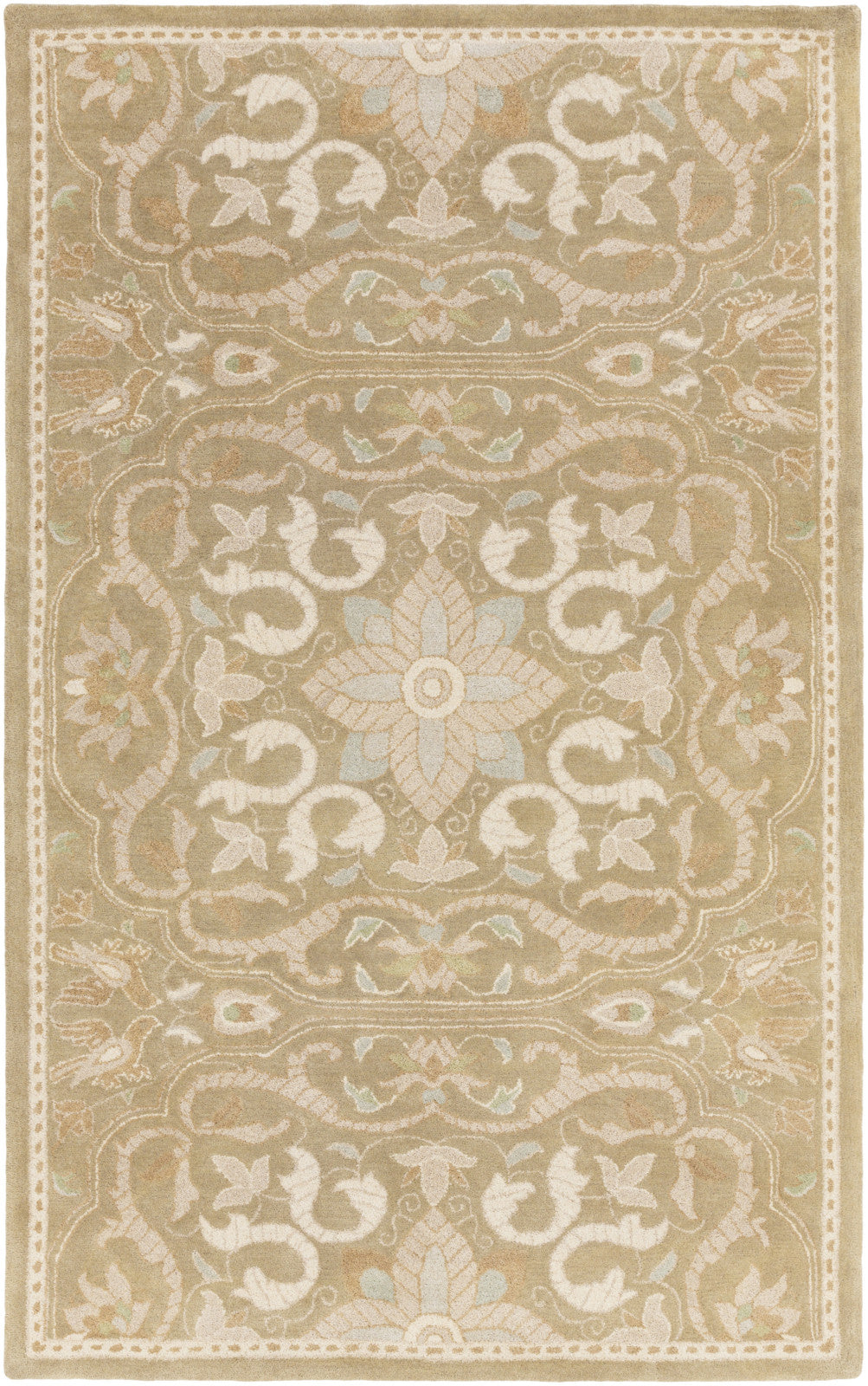 Surya SMI-2164 Brown Hand Tufted Area Rug by Smithsonian
