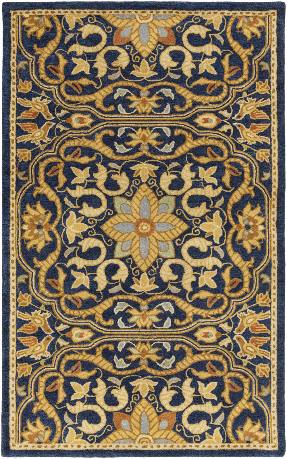 Surya SMI-2165 Blue Hand Tufted Area Rug by Smithsonian
