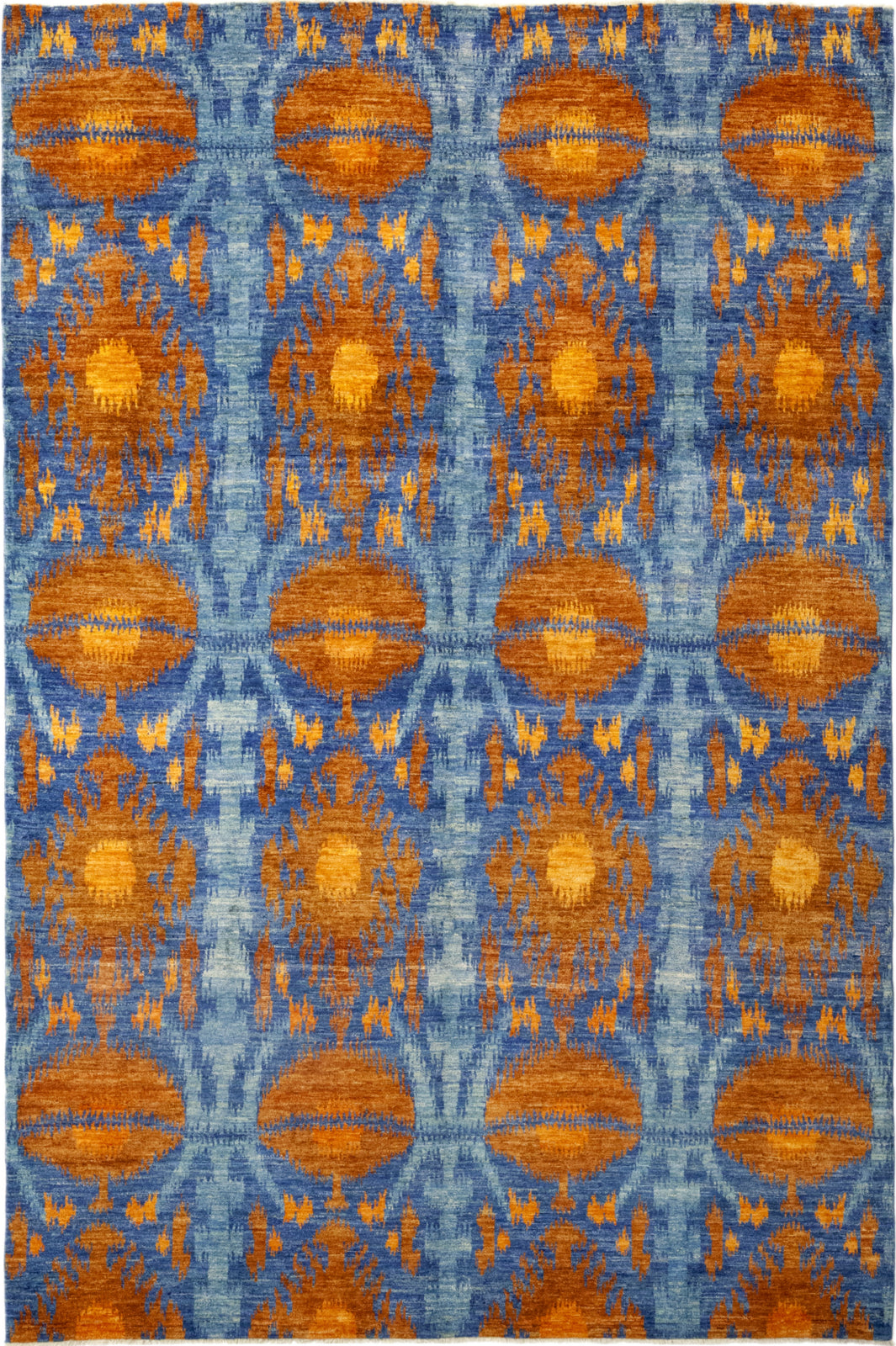 Solo Rugs Ikat Surat Tangerine Area Rug main image