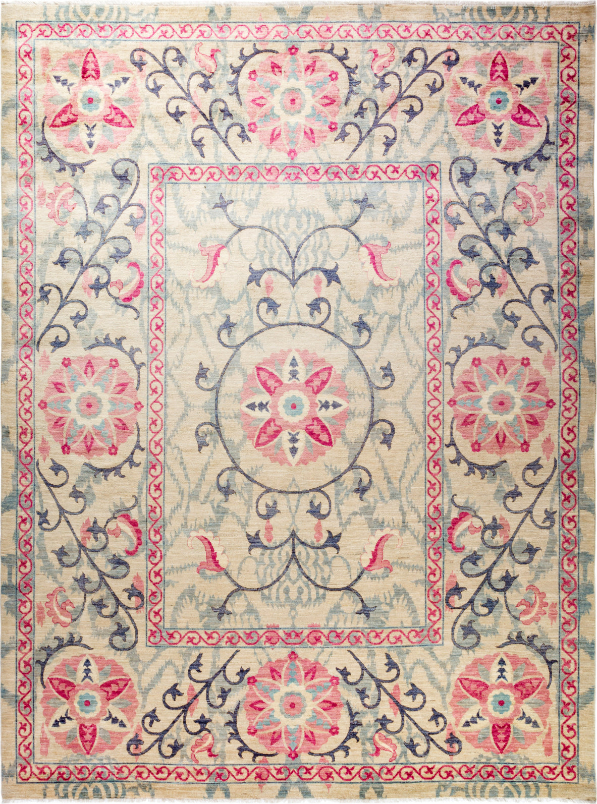 Solo Rugs Floral M1910-646 Pink Area Rug main image