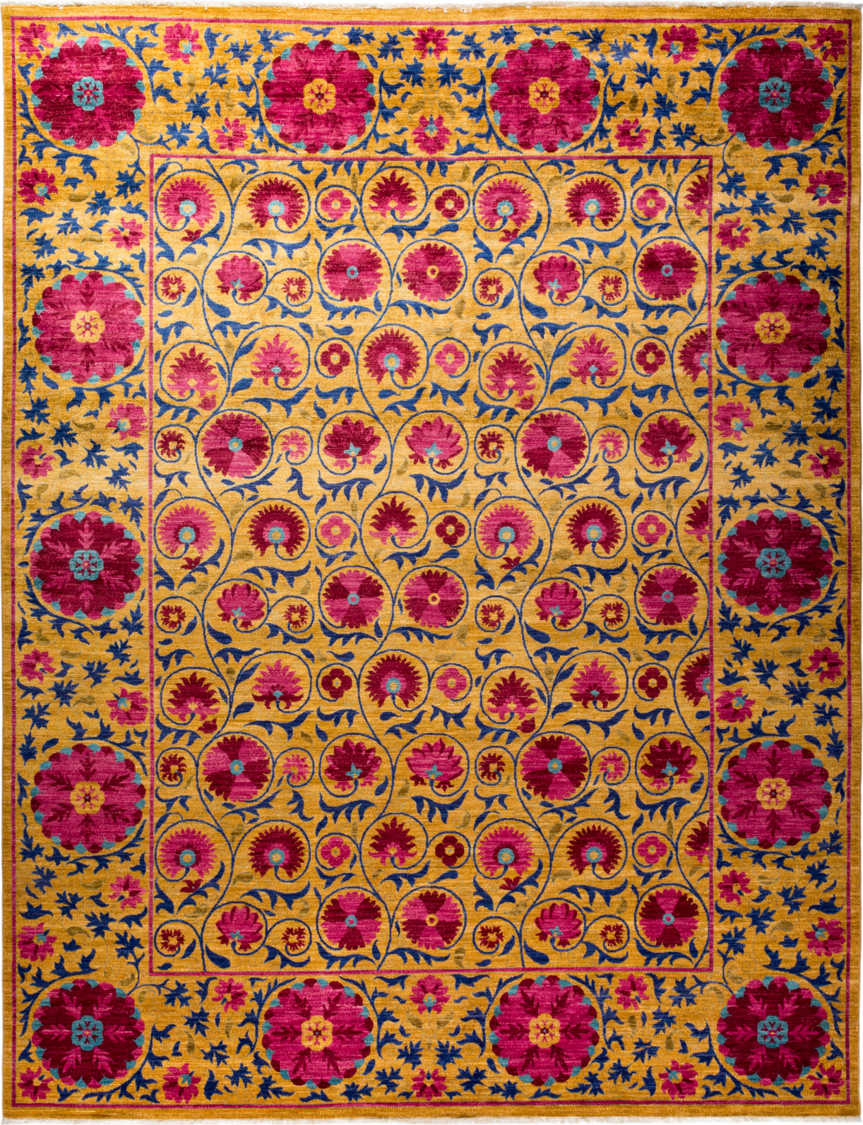 Solo Rugs Floral M1910-647 Red Area Rug main image