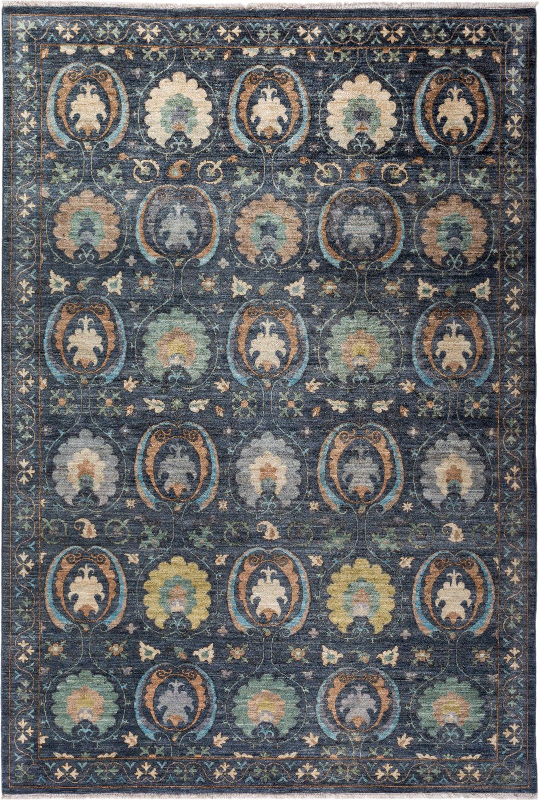Solo Rugs Floral M1910-654 Gray Area Rug main image