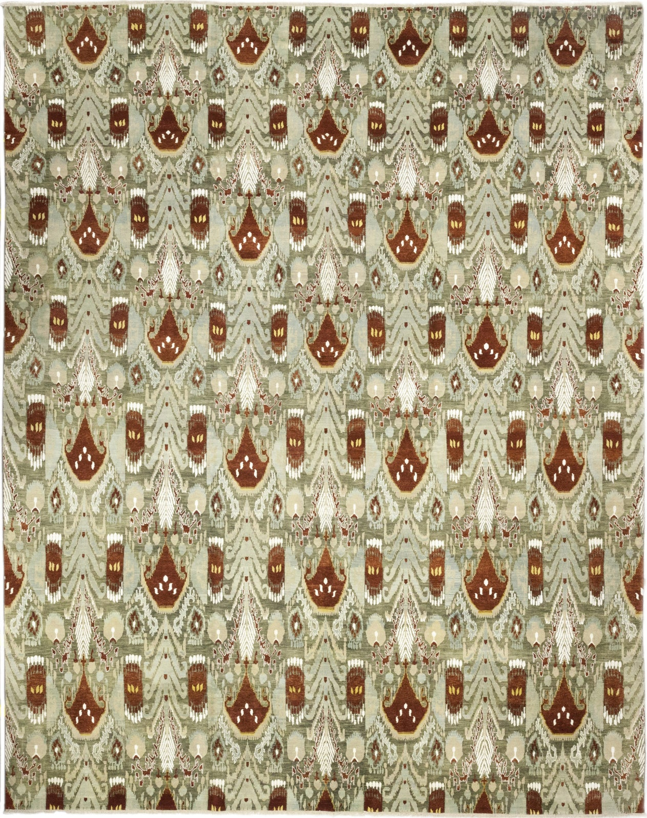 Solo Rugs Ikat M6011-26 Olive Area Rug main image