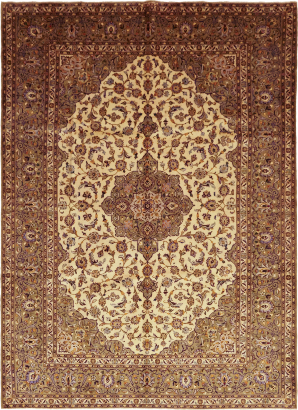 Solo Rugs Kashan M6085-22091 Cream Area Rug main image
