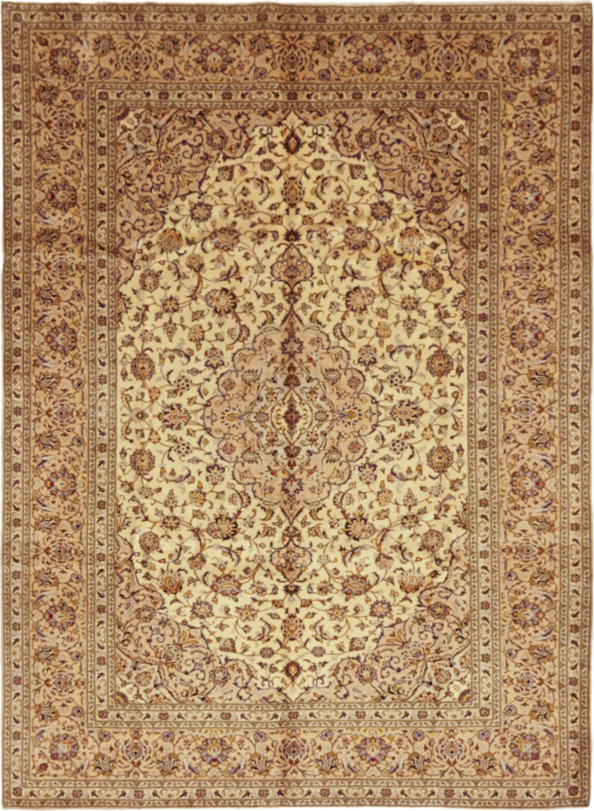 Solo Rugs Kashan M6085-22111 Cream Area Rug main image