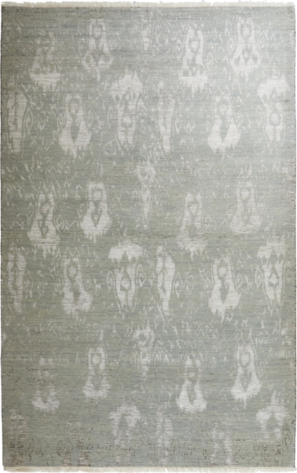 Solo Rugs Ikat M6511-24 Silver Area Rug main image