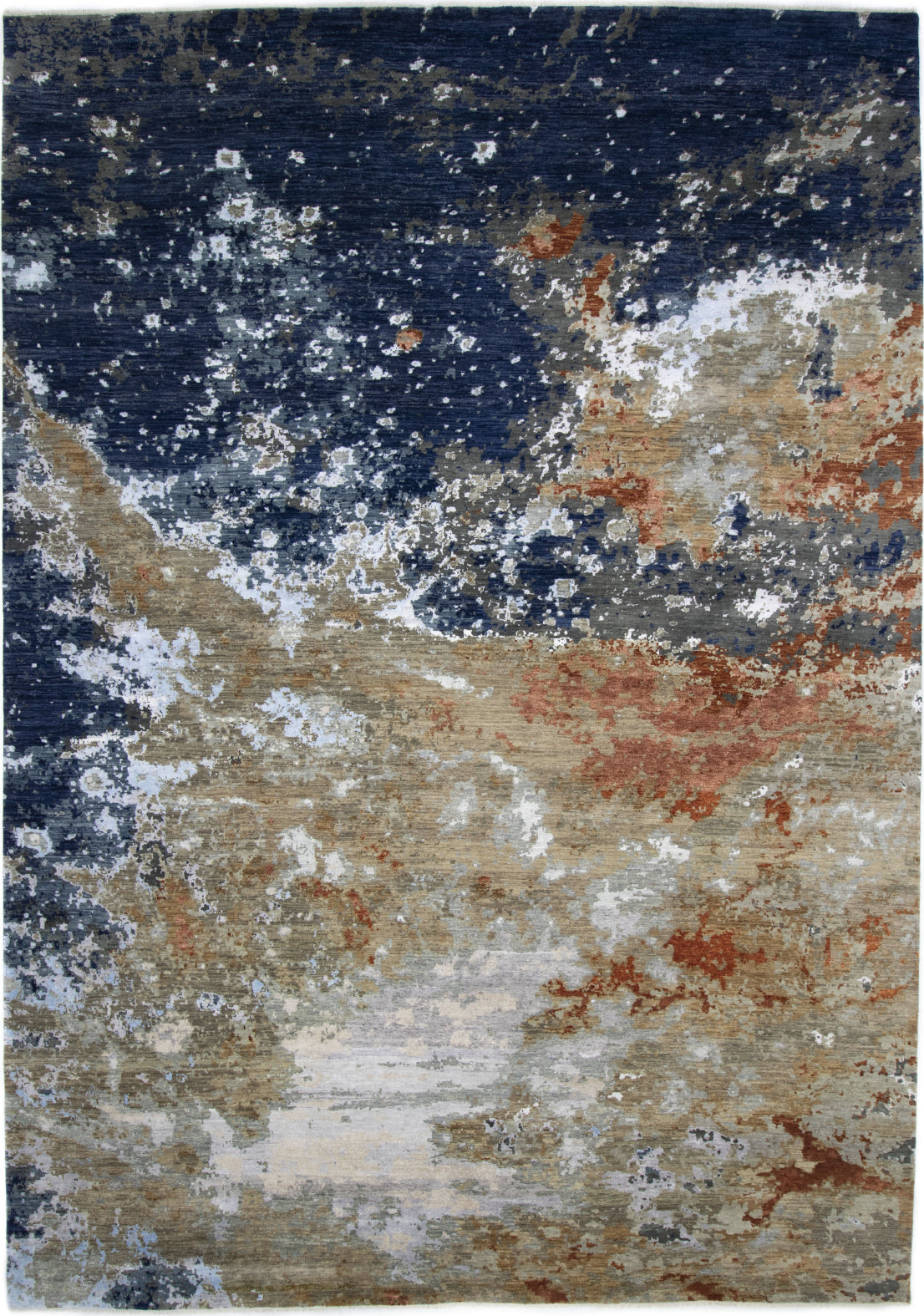 Solo Rugs Galaxy M7967-3 Navy Area Rug main image
