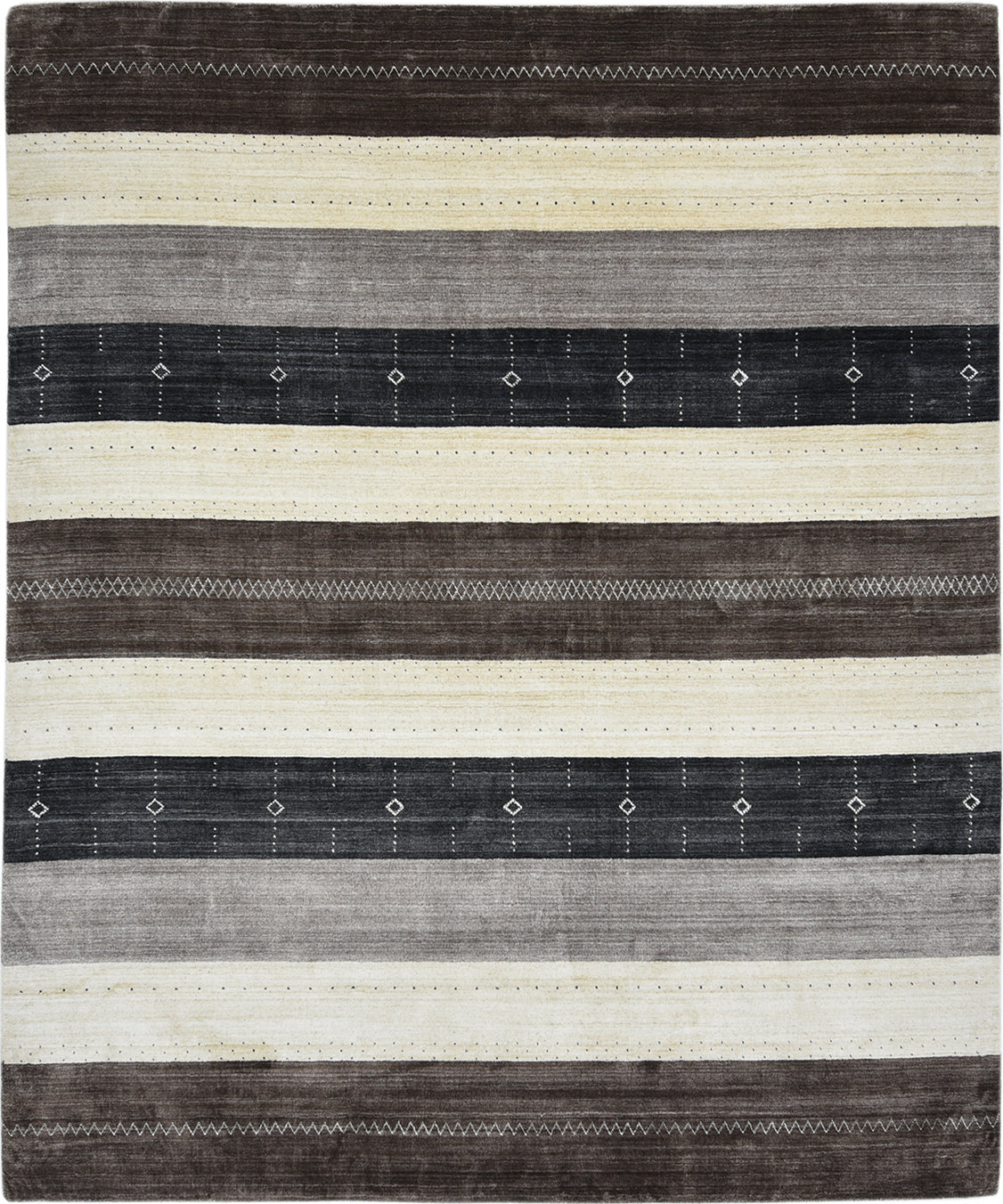 Solo Rugs Gabbeh M8061-111 Brown Area Rug main image