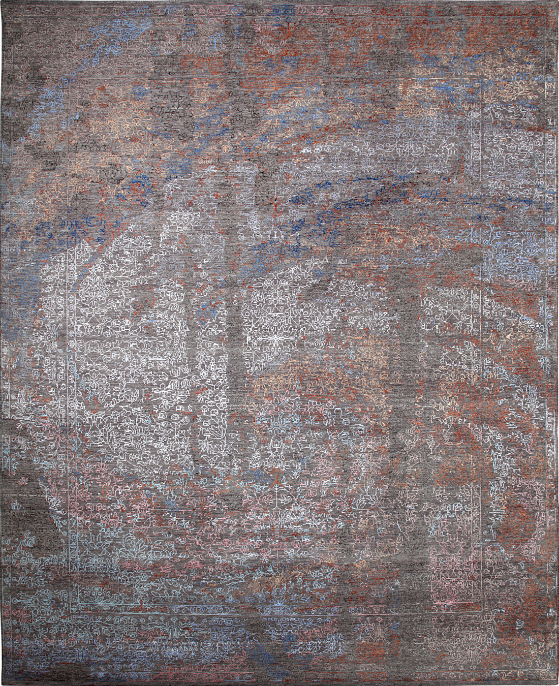 Solo Rugs Jankat M8062-43 Gray Area Rug main image