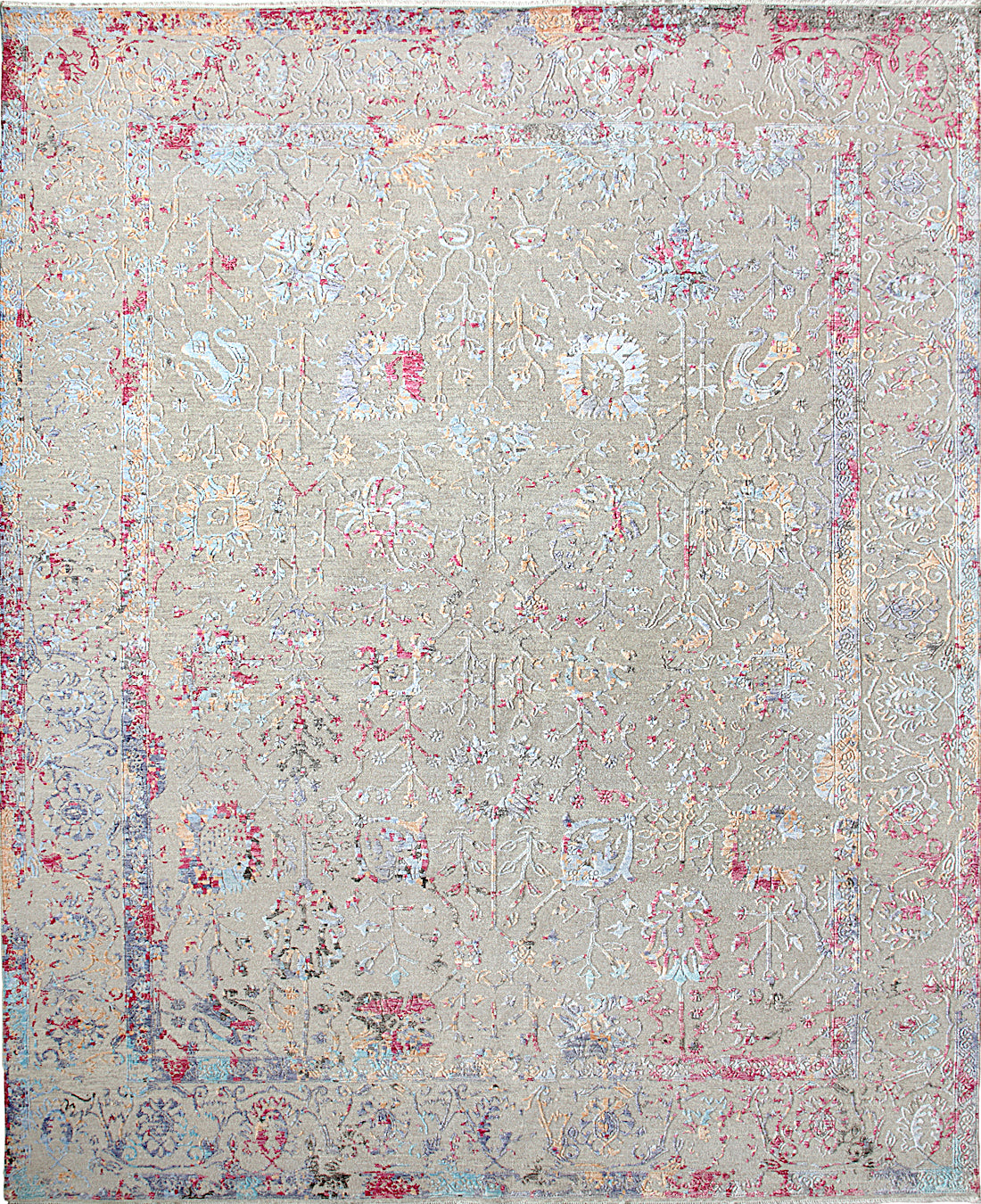 Solo Rugs Erase M8062-98 Gray Area Rug main image