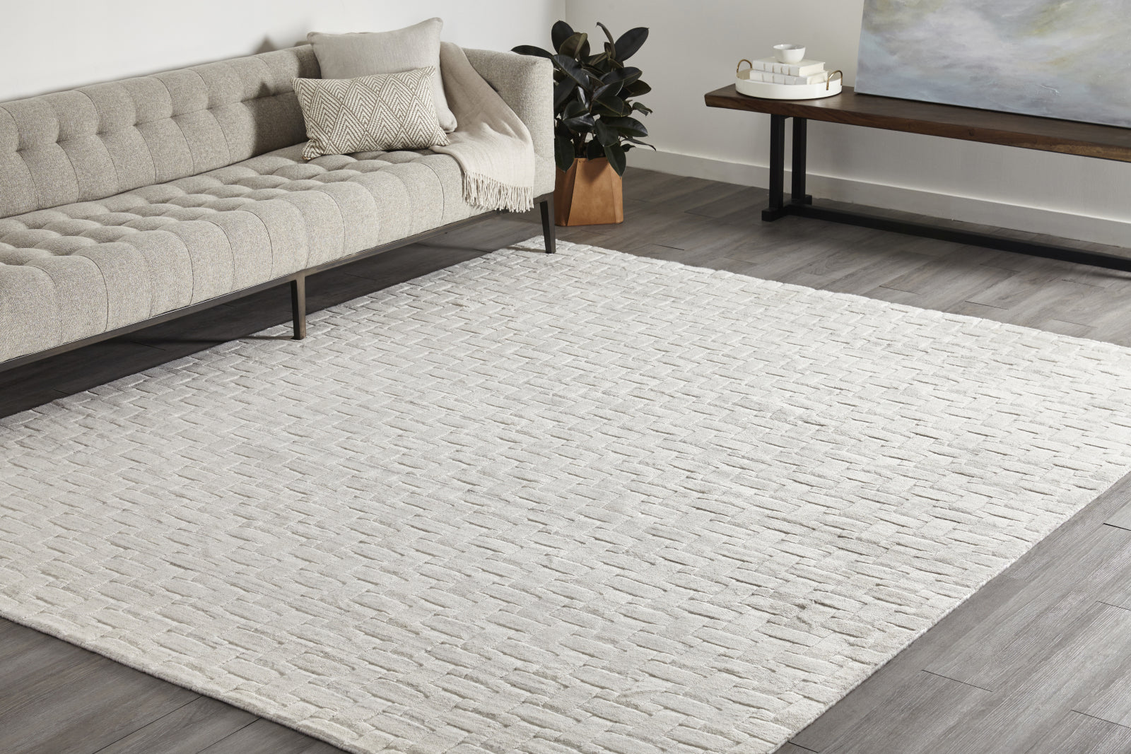 Solo Rugs Peyton S1122 Alabaster Area Rug main image