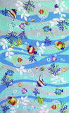 KAS Sonesta 2011 Blue Tropical Fish Hand Hooked Area Rug