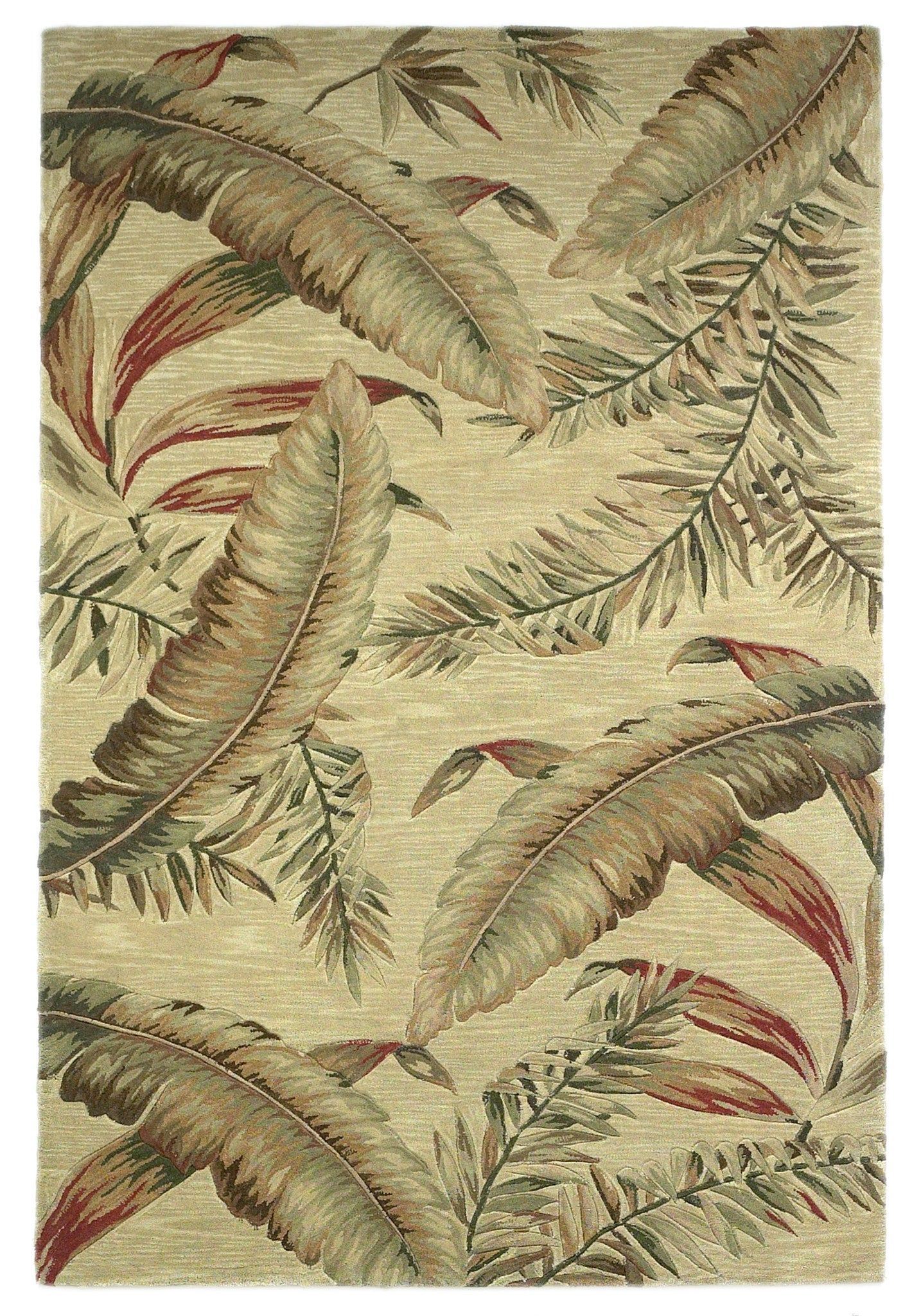 KAS Sparta 3124 Ivory Ferns Hand Tufted Area Rug