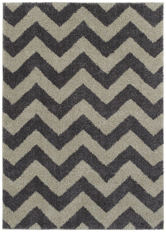 Mayberry Shaggy Supreme SS8034-Chevron Slate Area Rug