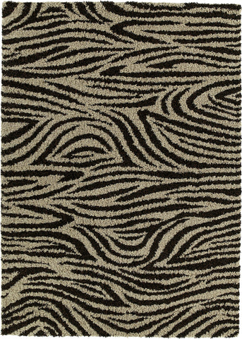 Mayberry Shaggy Supreme SS8038-Mandala Brown Area Rug