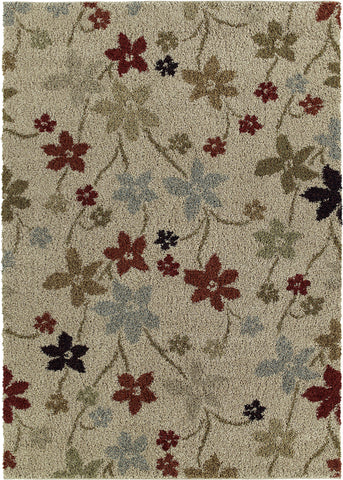 Mayberry Shaggy Supreme SS8072-Prissy Floral Multi Area Rug