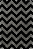 Mayberry Shaggy Supreme SS8073-Chevron Black Area Rug