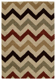 Mayberry Shaggy Supreme SS8074-Chevron Multi Area Rug