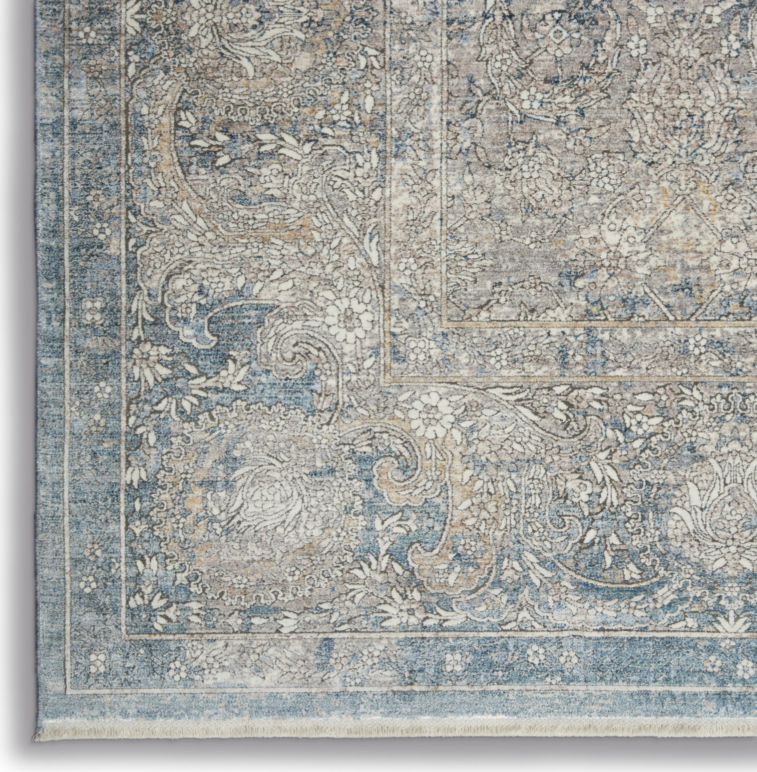 Starry Nights STN01 Cream Blue Area Rug by Nourison Corner Image