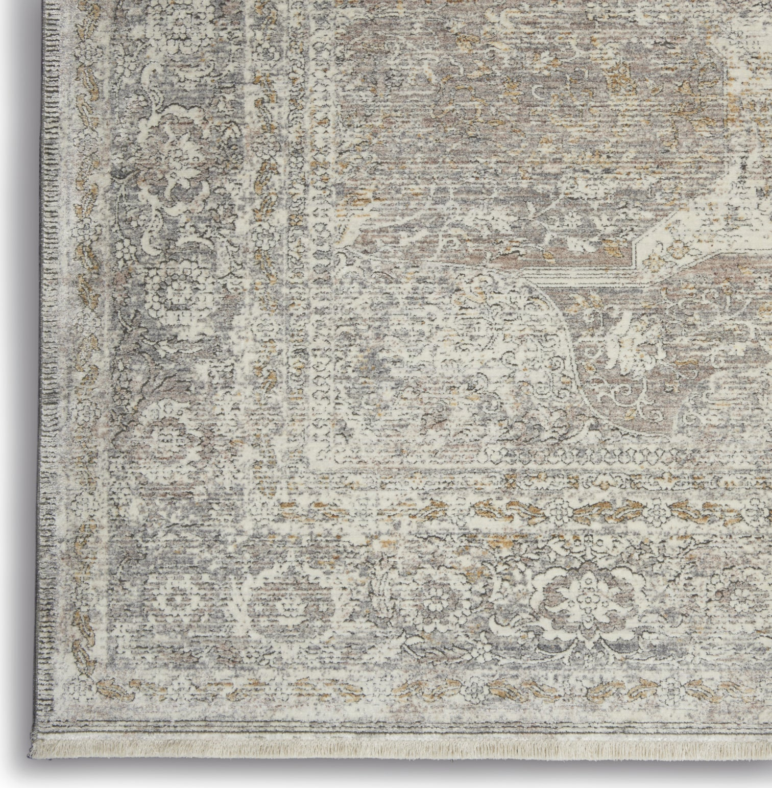 Starry Nights STN03 Silver/Cream Area Rug by Nourison Room Image