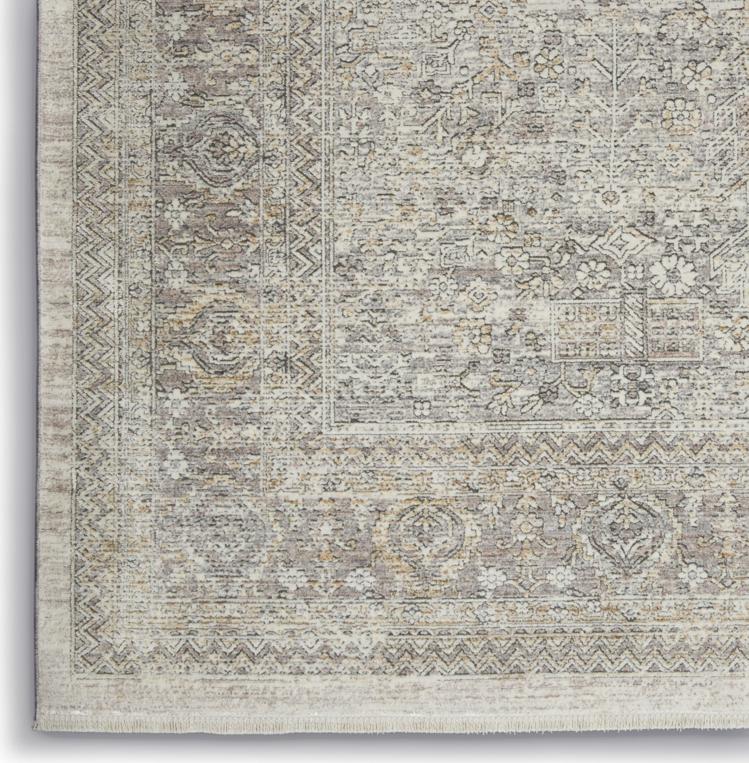 Starry Nights STN04 Cream Grey Area Rug by Nourison Corner Image