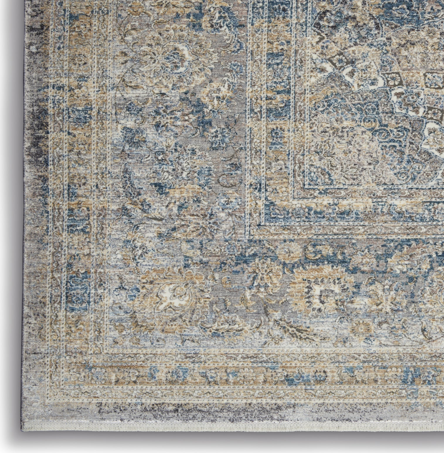 Starry Nights STN06 Cream Blue Area Rug by Nourison Corner Image