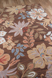 Momeni Summit SUM-4 Brown Area Rug Closeup