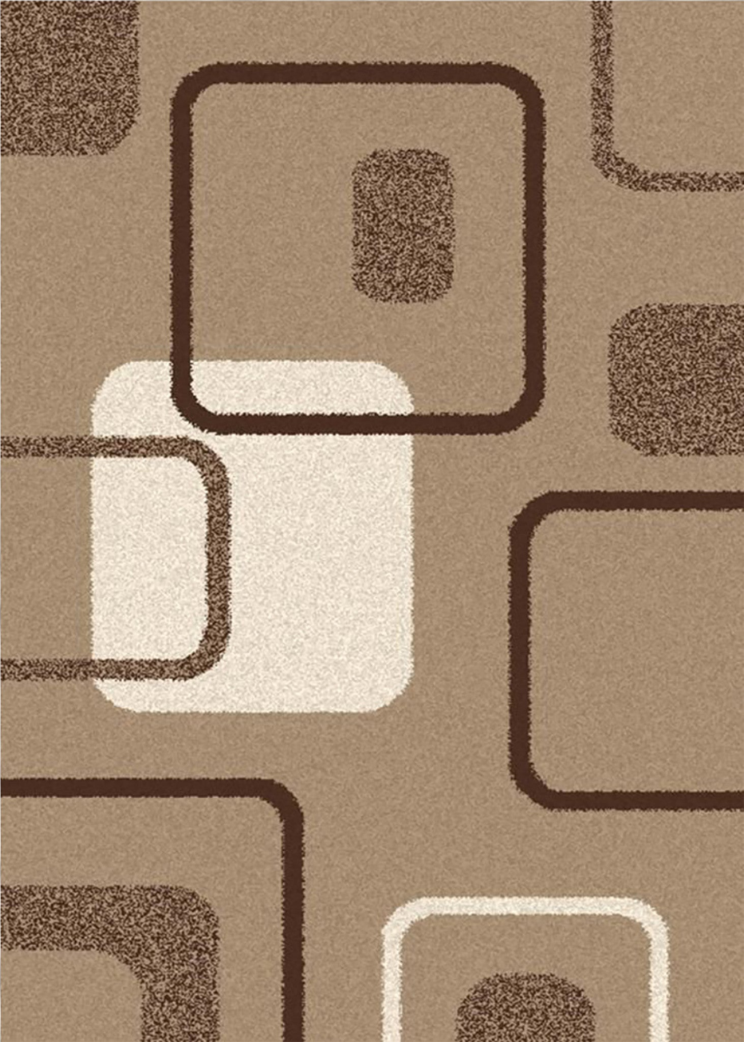 Mayberry Super Shag SUPS1371-Boxes Beige Area Rug
