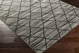 Artistic Weavers Sutton Madeline Onyx Black/Charcoal Area Rug Corner Shot
