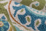 Momeni Suzani Hook SZI-1 Lime Area Rug Detail Shot