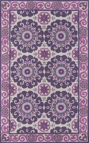 Momeni Suzani Hook SZI-1 Purple Area Rug main image
