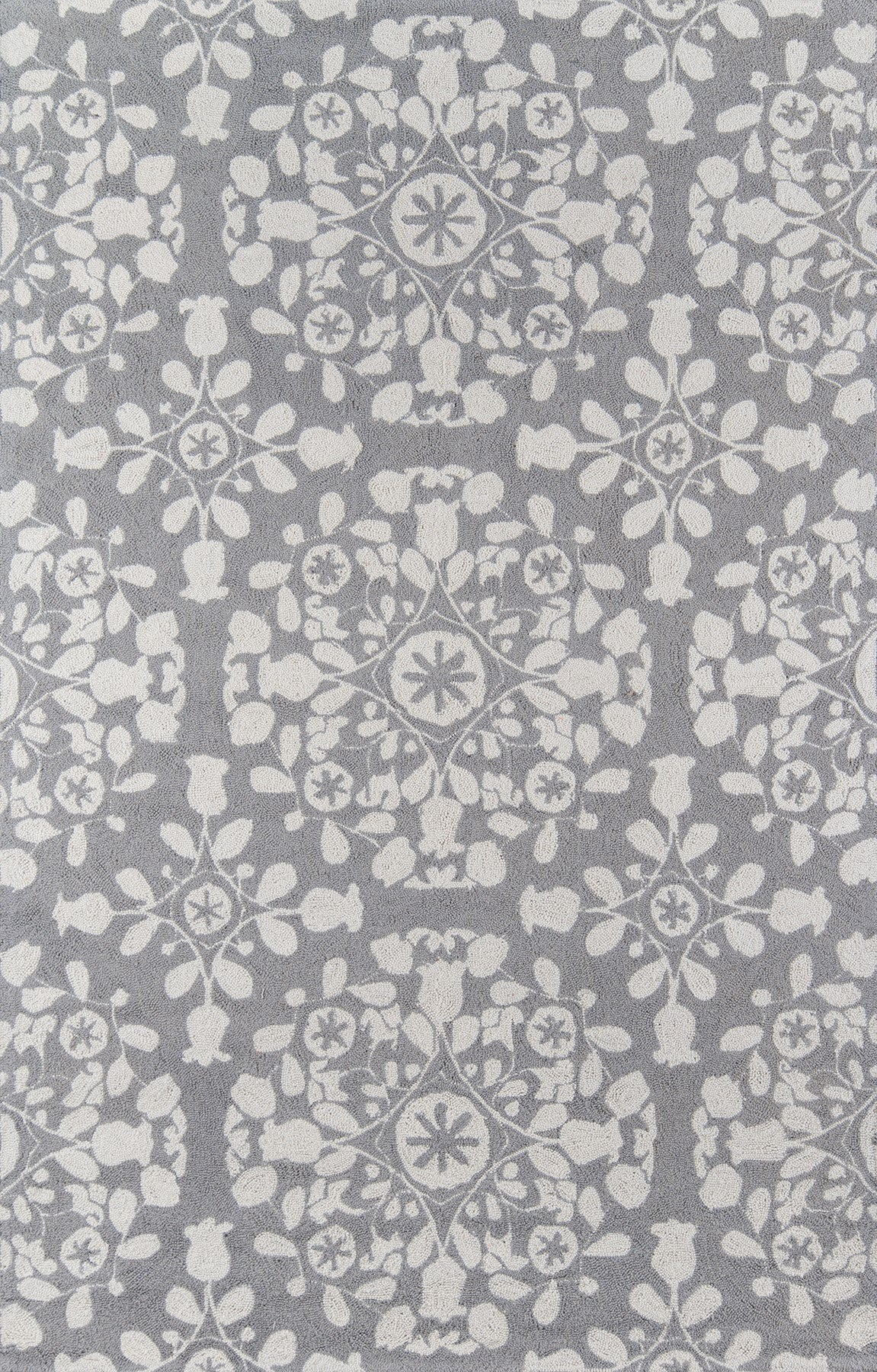 Momeni Suzani Hook SZI-4 Grey Area Rug main image