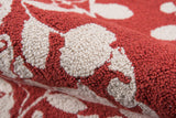 Momeni Suzani Hook SZI-4 Red Area Rug Detail Shot