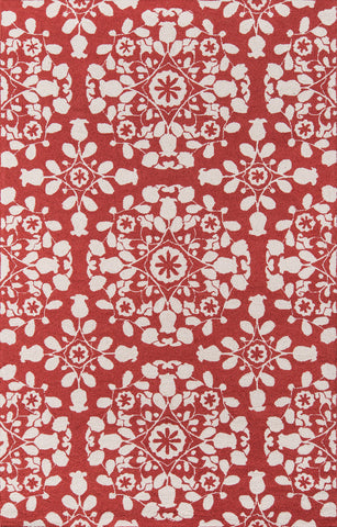 Momeni Suzani Hook SZI-4 Red Area Rug main image