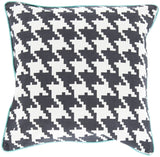 Surya Houndstooth Hues of SY-034 Pillow 18 X 18 X 4 Down filled