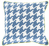 Surya Houndstooth Hues of SY-035 Pillow 18 X 18 X 4 Poly filled
