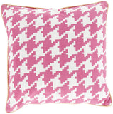 Surya Houndstooth Hues of SY-037 Pillow 18 X 18 X 4 Down filled