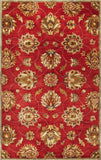 KAS Syriana 6003 Red Allover Kashan Hand Tufted Area Rug