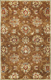 KAS Syriana 6004 Coffee Allover Kashan Hand Tufted Area Rug