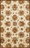 KAS Syriana 6005 Ivory Allover Kashan Hand Tufted Area Rug