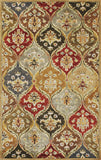 KAS Syriana 6019 Jeweltone Panel Hand Tufted Area Rug