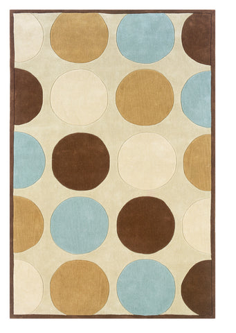 Linon Trio RUG-TAB203 Tan/Ice Blue Area Rug main image