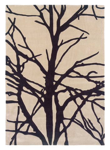 Linon Trio RUG-TAB321 Cream/Charcoal Area Rug main image