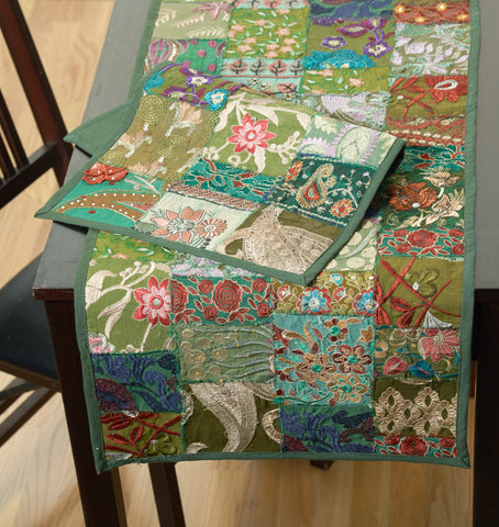 LR Resources TABLE LINENS 18006 Green