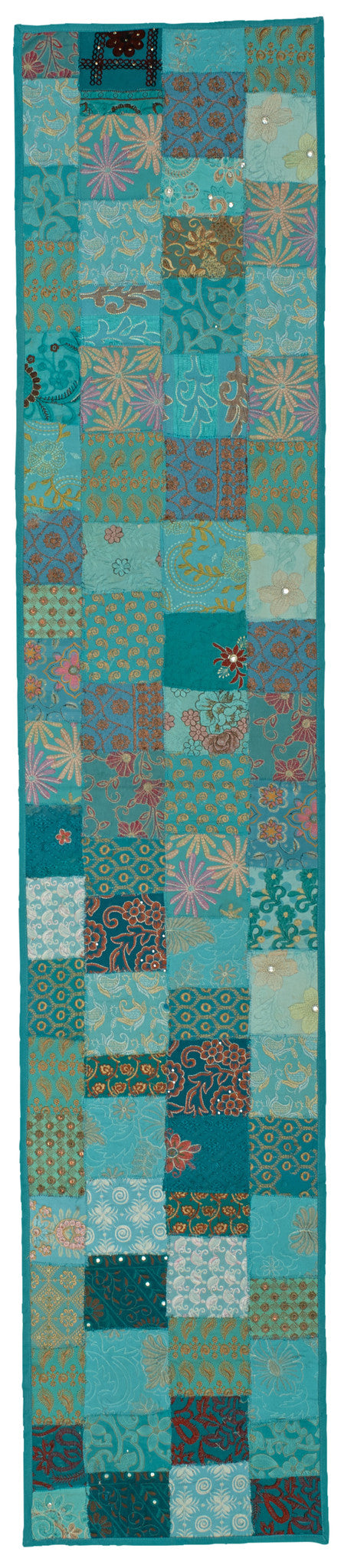 LR Resources TABLE LINENS 18008 Turquoise